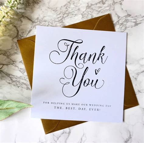 thank you wedding card by sweet pea sunday