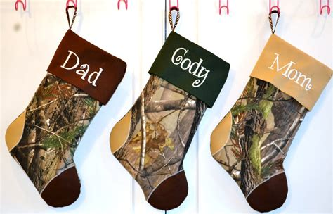 sale camouflage camo christmas stocking choose your color cuff