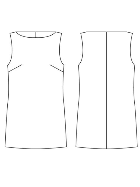basic sloper sewing patterns sewing blog burdastyle com basic shift dress sloper sewing patterns burdastyle com