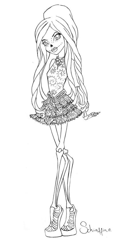 monster high sign coloring pages skelita monster high pinterest monster high and monsters
