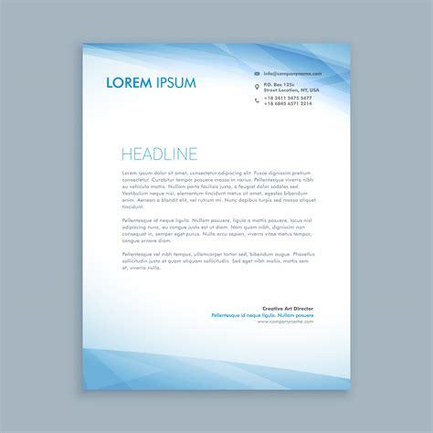 business letterhead layout template vector design