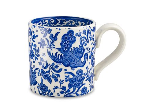 peacock mug burleigh blue regal peacock mug mugs