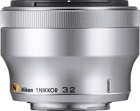 Nikon 1 Nikkor 32mm F 1 2 Silver nikon 1 nikkor 32mm f1 2 lens silver