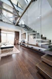Floating different wooden types of stairs for modern homes