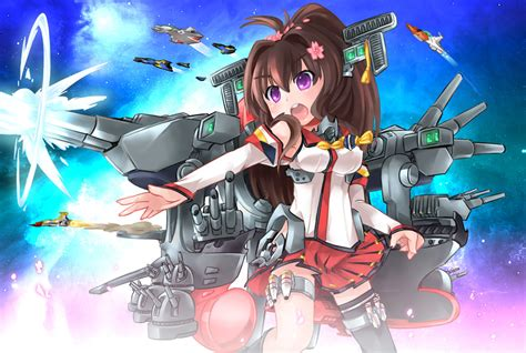 promo poster kantai collection kancolle yamato fubuki space battleship yamato tan kantai collection know