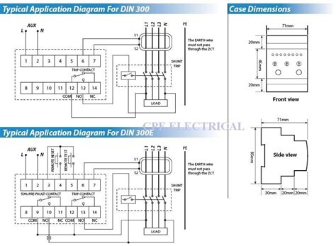 earth leakage relay wiring diagram wiring diagram sahife
