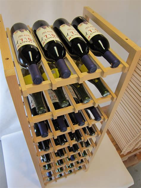 bespoke wooden wine racks buy hand made beech wood wine rack large size holds 32
