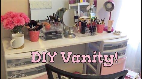 diy makeup vanity my styleeee office room series diy vanity