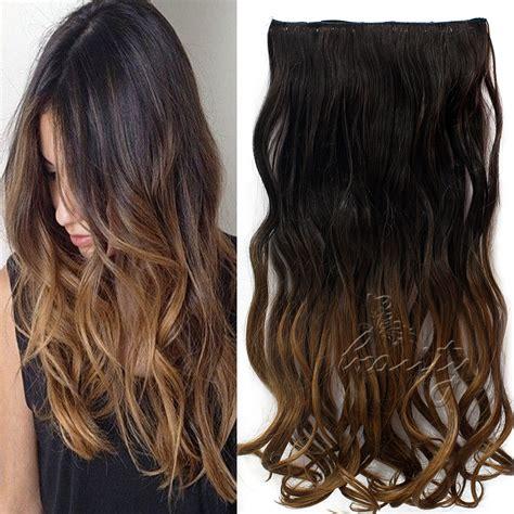 5 hair extensions 24 quot bunt clip in ombre extensions per 252 cke gelockt