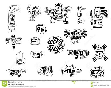 native american symbols cartoon vector cartoondealer com