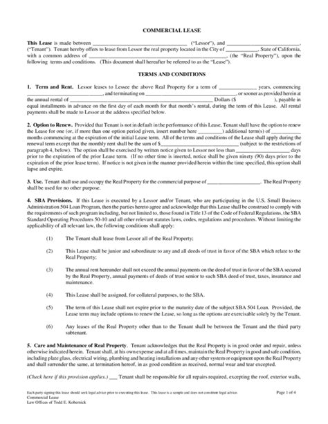 land lease agreement template 3 legalforms org
