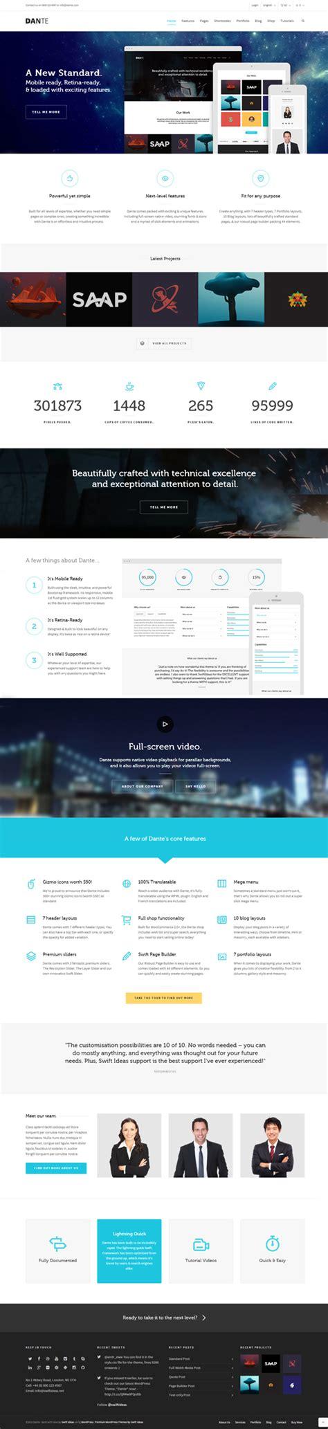 theme wordpress dante 12 new high quality responsive wordpress themes