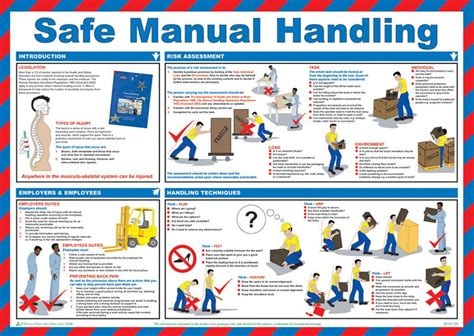 Poster Note Isi 8 40 X 20 Cm safe manual handling poster laminated 59cm x 42cm