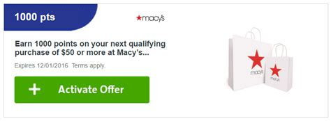 Activate Macy S Gift Card - ymmv plenti offer spend 50 at macy s in store online get 1 000 points