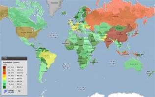 World Map 1950 by World Map Of World Population 1950 By Country Targetmap