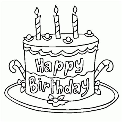 birthday coloring pages in spanish imagen para colorear