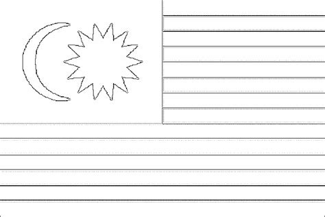 flag malaysia free coloring pages