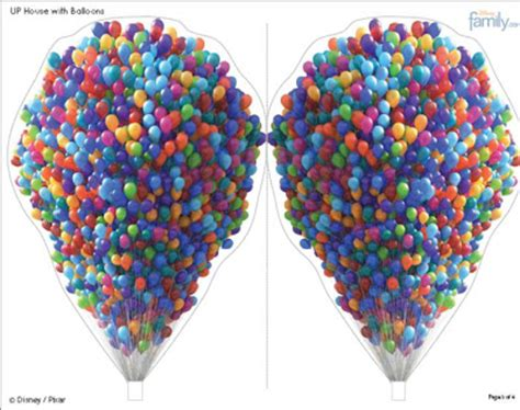 disney printable up house with balloons mmc up
