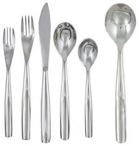contemporary flatware ginkgo 42 stainless steel flatware set