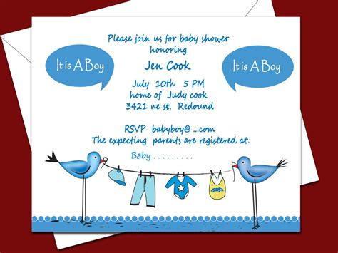 baby shower invitations for boys free templates invitations ideas