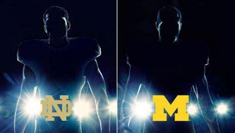 under the lights football adidas unveils new michigan notre dame uniforms