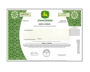 real share  deere company stock   minutes stock gifts  giveasharecom