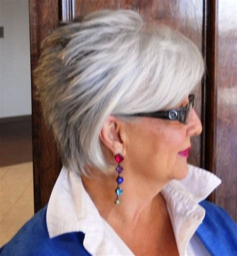 short hair and hearing aids short hair for women over 60 with glasses short