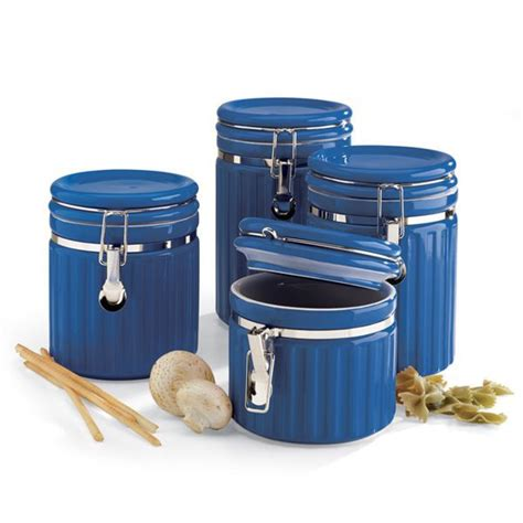 blue kitchen canister sets kitchen canisters sets blue home decor pinterest