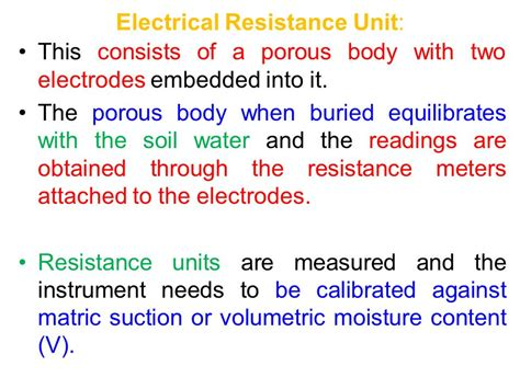 what units are resistors measured in chapter ii 2 1 planning irrigation systems ppt