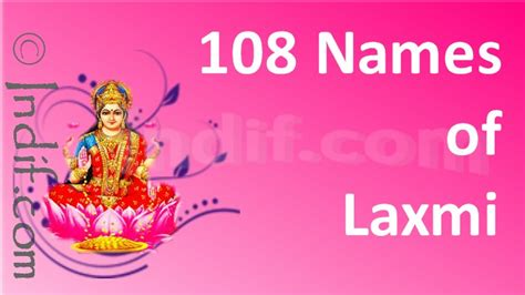 bungalow names in marathi 108 names of lakshmi mata jai laxmi mata