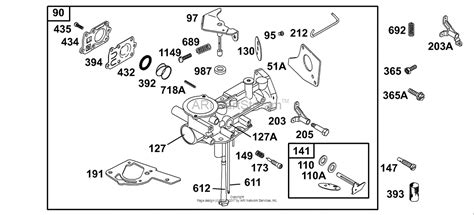 briggs and stratton carburetor parts diagram briggs and stratton 136217 0125 01 parts diagram for