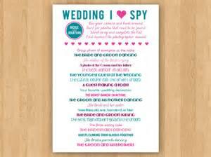 diy printable wedding i spy