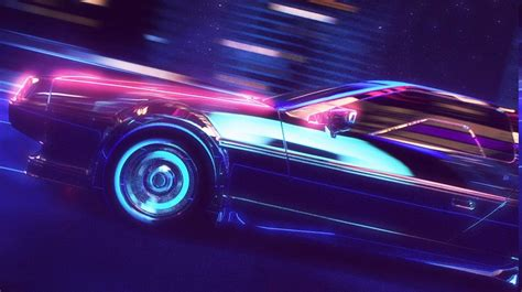80s porsche wallpaper retro wave synthwave 1980s neon delorean car