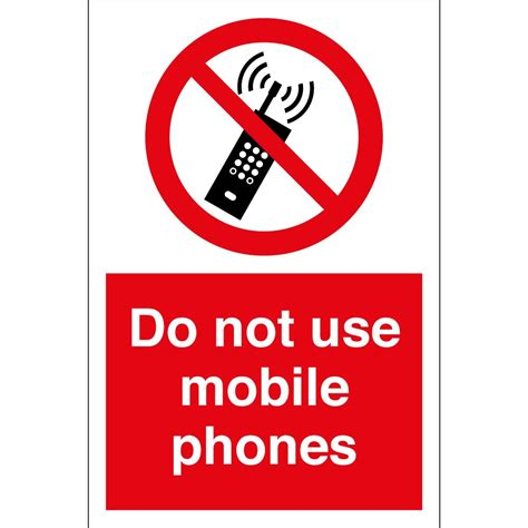 sign in mobile site do not use mobile phones signs from key signs uk