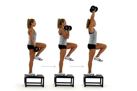 bench step ups with dumbbells advanced total body dumbbell workout life in leggings