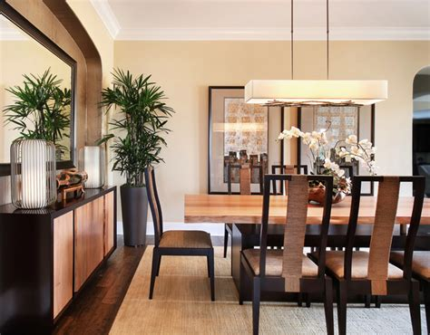 asian dining room walnut residence contemporary dining room orange