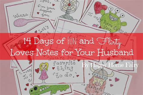 14 days valentines ideas 14 days of and flirty notes for your husband