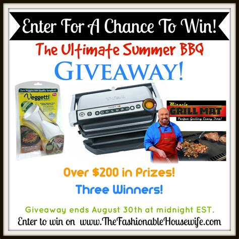 Enter Our Giveaway - enter our ultimate summer bbq giveaway 200 worth of prizes the fashionable housewife