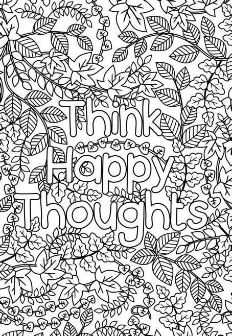 stress relief with hattifant doodles hattifant adult printable think happy thoughts coloring page for grown