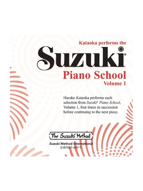 Suzuki Method Book Suzuki Piano School Volume 1 Cd Piano Cd Tuition Dvd