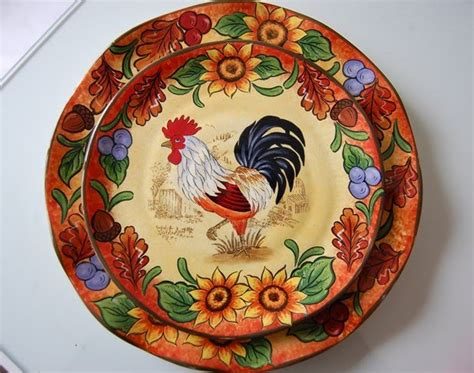 Kape Plat Nug 1 Set a country rooster table setting