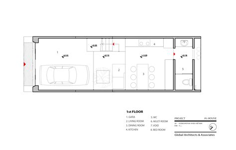 46 Sqm Small Narrow House Design With Low Cost Budget Modern Narrow Floor Plans