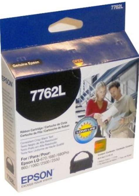 Ribbon Epson Lq680pro epson 7762l black fabric ribbon cartridge for use with epson lq 680pro lq 670 lq 860 and lq