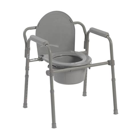 Commode Problems by Drive Folding Steel Bedside Commode