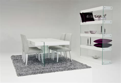 Aura Modern White Floating Dining Table Modern White Dining Table