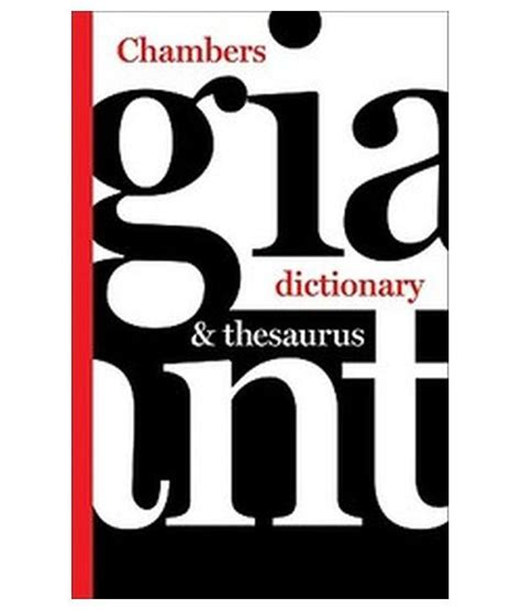 thesaurus confirmation chambers giant dictionary thesaurus buy chambers giant