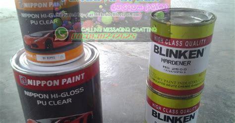 Harga Clear Coat Blinken komparasi produk clearcoat nippon hi gloss vs blinken ms
