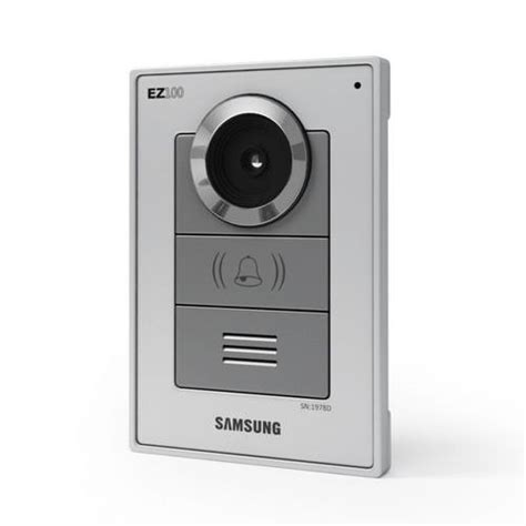 silver home intercom system 3d model obj