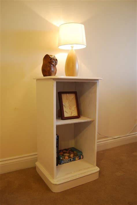 white shabby chic bookcase white shabby chic upcycled pine bookcase side unit