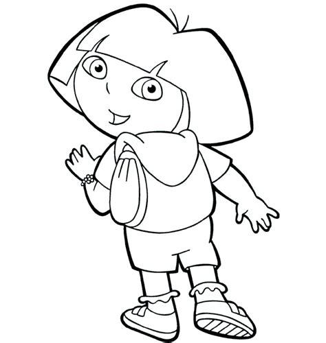dora the explorer coloring pages cartoon dora color page ドーラ dora のぬりえ 無料こどもぬりえ naver まとめ